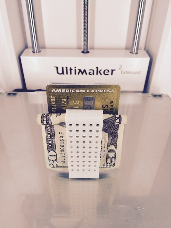 Medium Double Money Clip 3D Printing 30343