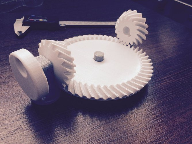 Spiral Bevel Gear Toy Set 3D Print 30347
