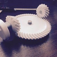 Small Spiral Bevel Gear Toy Set 3D Printing 30347