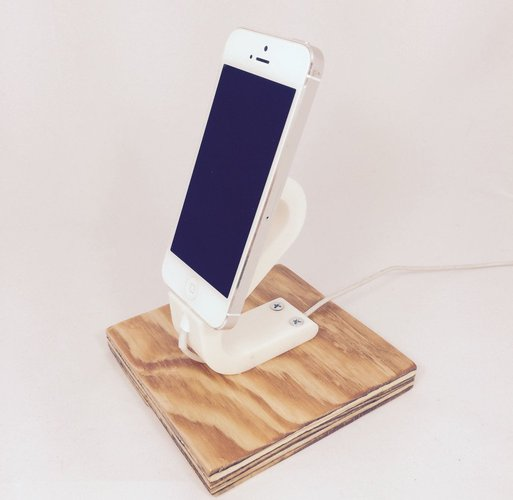 The Ess, Apple Lightning Cord Charging Dock for iPhone 5/5S/ 3D Print 30354