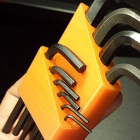 Small Metric Allen Wrench Holder 3D Printing 30394
