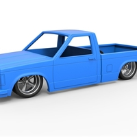 Small Diecast Chevrolet S10 1990 Scale 1:25 3D Printing 304203