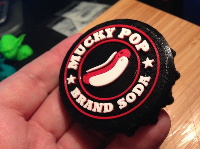Custom Soda Cap for Store Display 3D Print 30422