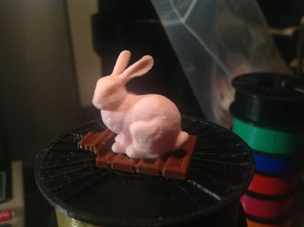 Medium Easter Bunny and Candy Bar 3D Printing 30452