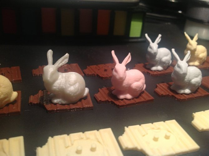 Easter Bunny and Candy Bar 3D Print 30453