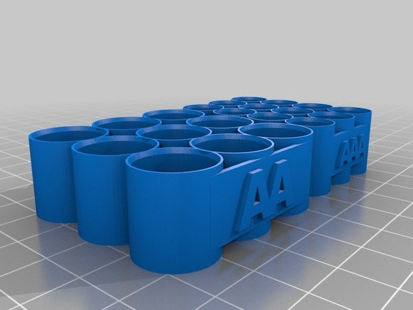 Medium AA & AAA Battery Holder 3D Printing 30455