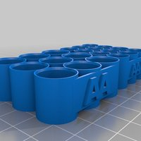 Small AA & AAA Battery Holder 3D Printing 30455