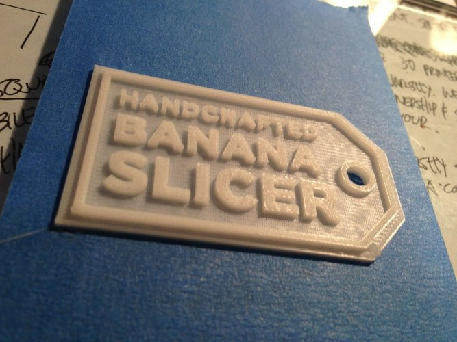 Gift Tag for Banana Slicer 3D Print 30456