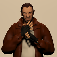 Small Niko Bellic - GTA IV 3D Printing 304834