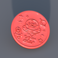 Small Spaceship drinkcoaster 3D Printing 306017