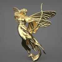 Small Archer Goddess 3D Printing 306045