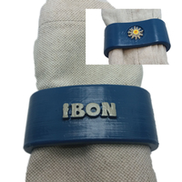 Small IBON 3D Napkin Ring with eguzkilore 3D Printing 306104