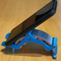Small Mechanical Adjustable Iphone Stand V2 3D Printing 306341