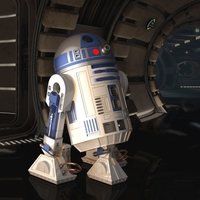 Small STAR WARS R2D2 detailed printable rotating openable head 3D Printing 306884
