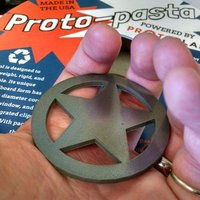 Small Proto-pasta Sheriff Star Badge Metal Composite Test Piece 3D Printing 30691