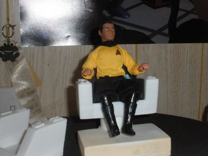 TOS Kirk's Chair Mego Scale 3D Print 30695
