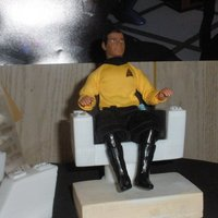 Small TOS Kirk's Chair Mego Scale 3D Printing 30695