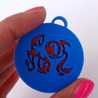 Small Pendants. Zodiac signs. Water. 3D Printing 30722