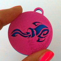 Small Pendants. Zodiac signs. Air. 3D Printing 30728
