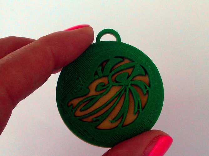 Pendants. Zodiac signs. Fire. 3D Print 30740