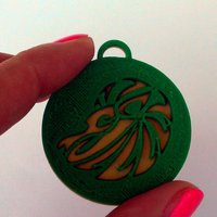 Small Pendants. Zodiac signs. Fire. 3D Printing 30740