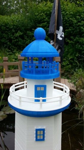 Hexagonal Base Lighthouse Model Remix 3D Print 30832