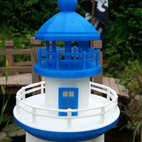 Small Hexagonal Base Lighthouse Model Remix 3D Printing 30832