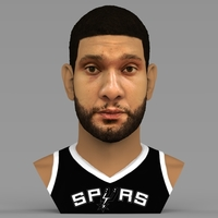 Small Tim Duncan bust ready for full color 3D printing 3D Printing 308969