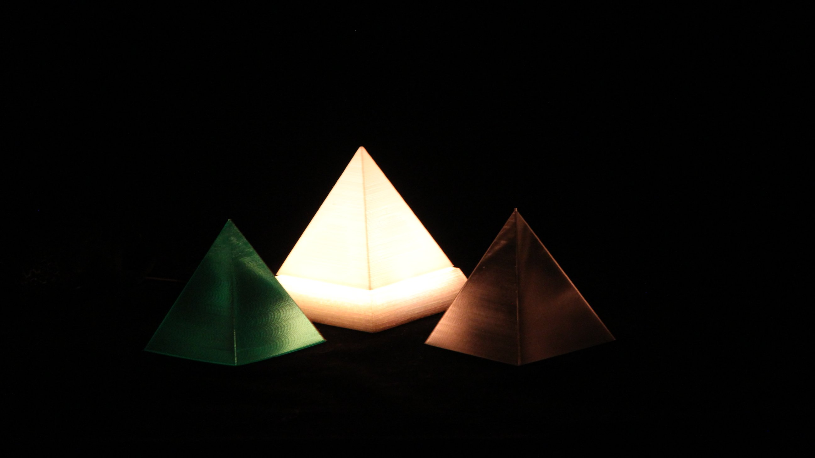 Printed Pyramid Iot Led Light By Richard Swika