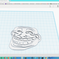 Small 3d troll face 3D Printing 30980