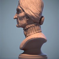 Small Haunted Mansion Female Bust 3D Printing 309892