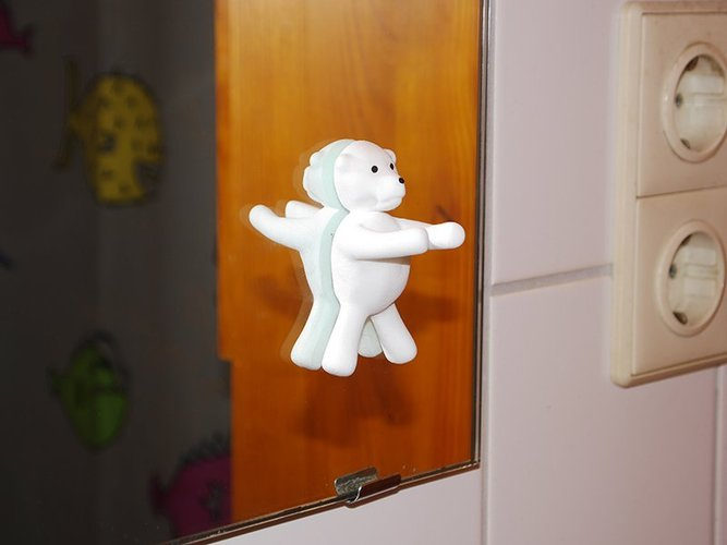 Toothbrush holder teddy bear 3D Print 31046