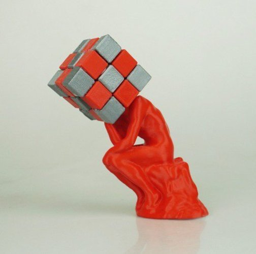 The Thinker / Rubik's Cube  3D Print 31081
