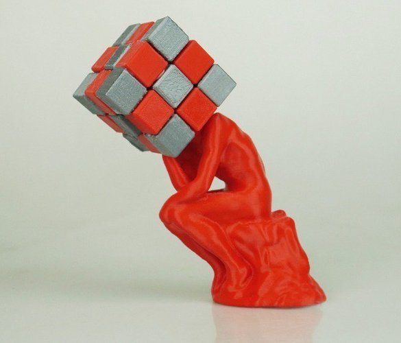 The Thinker / Rubik's Cube  3D Print 31082