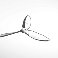 Small propeller 3D Printing 31101