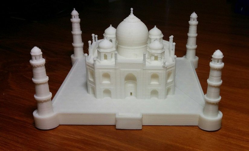 Nicely detailed model of the Taj Mahal 3D Print 31115