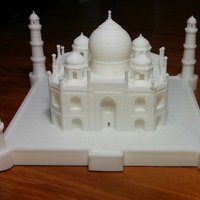 Small Nicely detailed model of the Taj Mahal 3D Printing 31115