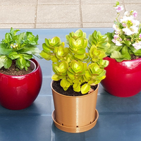 Small Classic Brown Plant Pot & Water Dish 3D Printing 313840