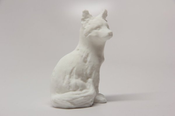 Medium Sitting Fox 3D Printing 31471