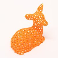 Small Voronoi Fawn 3D Printing 31482