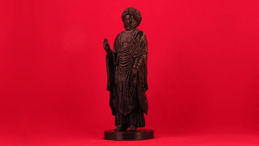 Inverted Standing Buddha Marcus Aurelius with Manual Supports 3D Print 31551