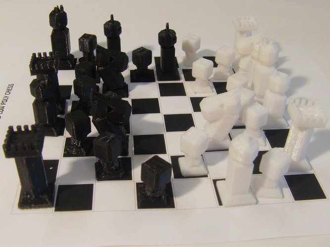 Phelps3D Low Poly Chess Set (1) 3D Print 31588
