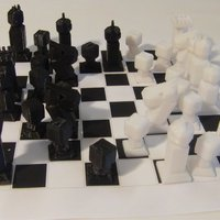Small Phelps3D Low Poly Chess Set (1) 3D Printing 31588