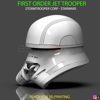 Small First Order JET TROOPER Helmet - Stormtrooper Corp - STARWARS  3D Printing 315900