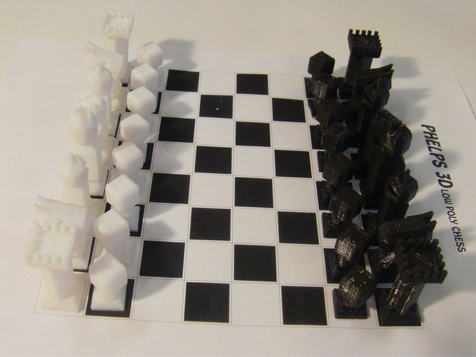 Phelps3D Low Poly Chess Set (1) 3D Print 31591