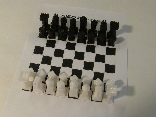 Phelps3D Low Poly Chess Set (1) 3D Print 31594
