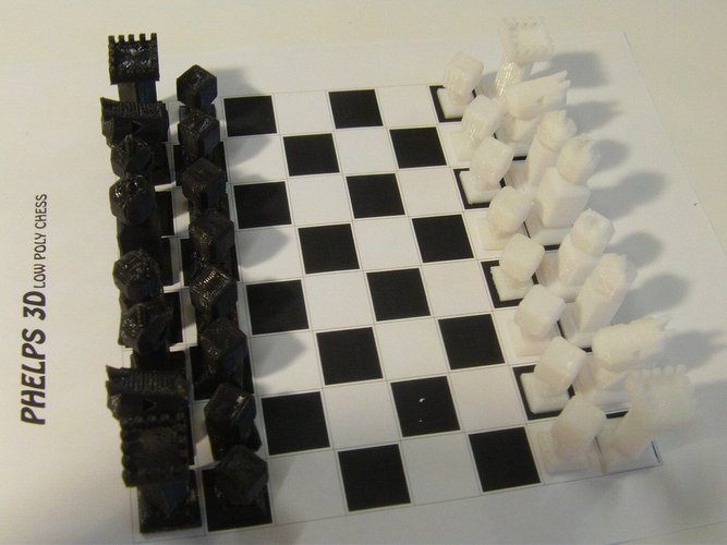 Phelps3D Low Poly Chess Set (1) 3D Print 31595