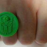 Small Transmasters Fan Club Ring 3D Printing 31597