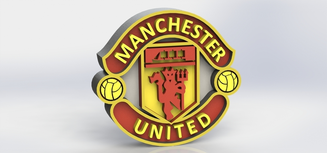 3d Printed Manchester United Logo By Taiced3d Pinshape