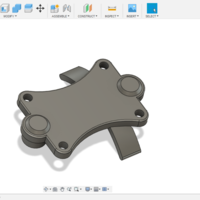 Small Kyosho DBX 1:8  middle differential top part 3D Printing 316110